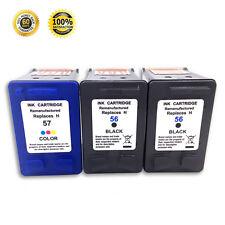 3 PK Black/Color Ink Cartridge For HP 56 57 Officejet 4215 4252 5500 5510 5515
