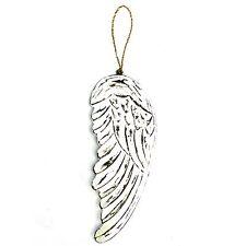Handcrafted Wooden Angel Wings Hanging Ornament Decoration Garden Memorial