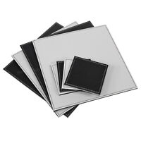 Set of 4 Placemats and Coasters Square Faux Leather Place Setting Table Mats