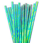 12 PC Cake Pop Party Straws - Green Iridescent | Bakell®