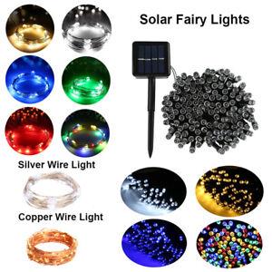LED Solar String Lights Waterproof 2/10/20/50M Copper Wire Fairy Outdoor Garden