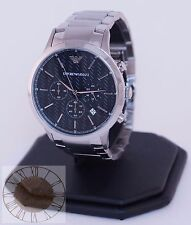 Emporio Armani Men's Chronograph Stainless Steel Watch AR2486, New