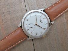 Men's Vintage 1950 LONGINES Manual Wind Wristwatch 6118 Long Lugs 36 mm