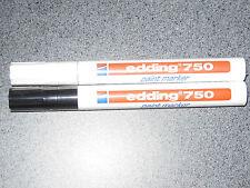 Lot marqueurs Edding 750 Noir et Blanc