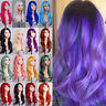 New Purple Long Wavy Curly Full Wig Women Female Cosplay Party Fancy Dress Wig