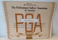 1954 PGA MEMBERSHIP CERTIFICATE WITH FACSIMILE SIGNATURE-HORTON SMITH