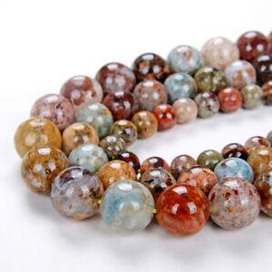 Flower Ocean Jasper Gemstone Grade AAA Round 6MM 8MM 10MM Loose Beads (D1)
