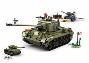 Medium Tank Green - SLUBAN M38-B0860 - 742 Bricks