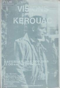 JACK KEROUAC VISIONS OF KEROUAC CELEBRATION UK FILM CENTRE NOVEMBER 1983 FLYER