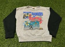 Boy's Vintage 1994 Mighty Morphin Power Rangers Color Blocked Sweatshirt Size 7
