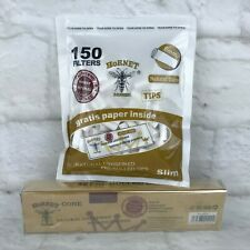 Hornet Cone 32 Natural Unrefined Rolling Papers and 150 Filters 6mm Hemp Lot