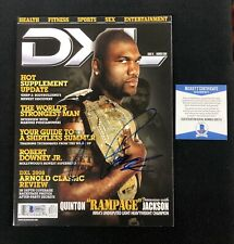 "Quinton ""Rampage"" Jackson Signed DXL Magazine Beckett COA UFC"