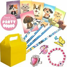 Pre Filled Childrens Girls Pets Party Bags Yellow Box Birthday Wedding Gift Bag