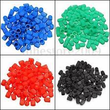 100Pcs Plastic Auto Car Motorcycle Bike Truck Wheel Tire Valve Stem Caps 5 Color