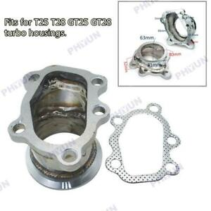 """For GT25 GT28 T25 T28 Turbo Down Pipe 5 bolt to 2.5"""" 63mm V band Flange Adapte"""