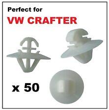 50 X VW VOLKSWAGEN CRAFTER Lato esterno stampaggio porta clip pannello di plastica Trim