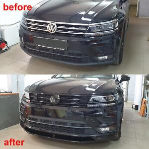 UNPAINTED FRONT LIP SPOILER FOR Volkswagen Tiguan MK2 Parsan-Tuning ABS plastiс