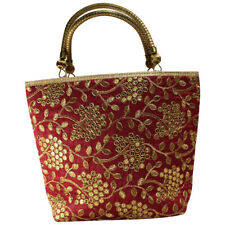 Swank Bags Small Silk Tote Handbag  Jari work all over the body AB-CB41