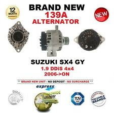 FOR SUZUKI SX4 GY 1.9 DDiS 4x4 2006-ON NEW ALTERNATOR with FITTED CLUTCH PULLEY