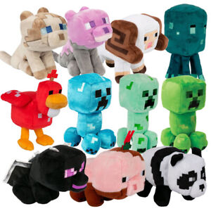 Minecraft JINX Plush Enderdragon, Squid, Horned Sheep, Creeper, Ragdoll Dyed Cat