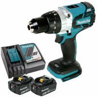 Makita DHP481 18v Brushless Combi Drill Body With 2 x 6.0Ah Batteries & Charger