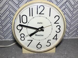Vantage westclox dialite great time electric table clock model 722394