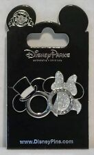 Disney Wedding Ring Groom Mickey Mouse & Bride Minnie Mouse Jeweled Pin NEW CUTE
