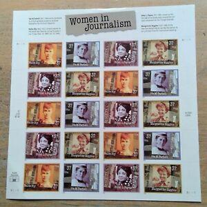 2002 37¢ Women in Journalism full sheet of 20 USPS stamps Ethel L. Payne