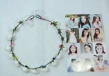 Women's delicate flower wreath festival Headband crown White faux Roses Prom