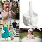 Chic Romantic Ivory Satin Bowknot Wedding Party Ceremony Flower Girl Basket !!