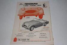 1950's Triumph TR2 Factory Brochure, Original