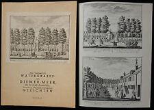 C/WATERGRAEFS OF DIEMER-MEER By de Stadt Amsterdam..Repro de Gravures de 1725