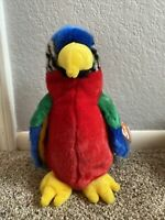 """TY Beanie Buddy Jabber the Parrot 1999 10"""" Tall MWMT, New"""