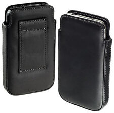 Leder Case Tasche Etui für Nokia Lumia 510 Hülle schwarz black NEU