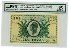 French Equatorial Africa ...P-13a ... 100 Francs ... 1941 ... CH*VF-XF*  PMG 35.