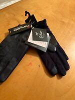 NWT Women's Echo Black  Leather Gloves Thinsulate Size Medium #252