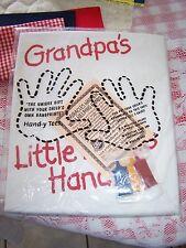 Grandpa's Little Helpers Hands Size XL t-Shirt Kit Handy Art Childrens Miracle N