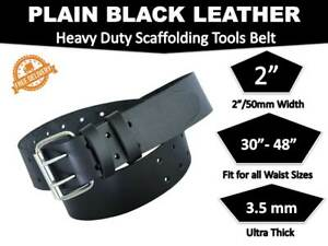 Scaffolding Black Leather Tools Belt Heavy Duty Professional Work 2'' wide 48''
