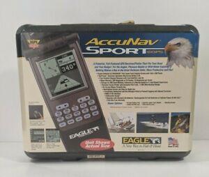 Eagle AccuNav Sport Portable GPS Bundle Manual Hardcase USA Made Brand New