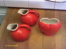 Orange Pottery MC COY Creamer  - Small Jug Pitcher & 1 FREE VASE & PITCHER