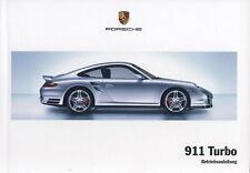 Porsche 997 / 911 Turbo Betriebsanleitung, Bedienungsanleitung, Mj. 2008