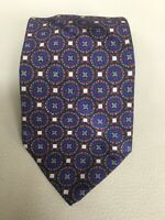 Brioni Blue with Red Geometric Patterned Silk Tie Made in Italy