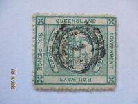 Australien Queensland Railways Eisenbahn, 6 pence (72422)