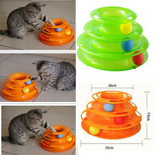 Funny Pet Cat Kitty Crazy Ball Disk Interactive Amusement Plate Trilaminar Toy