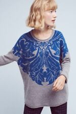 NWT ANTHROPOLOGIE Delft Jacquard Pullover Sweater by Eri + Ali sz. S