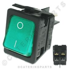 More details for genuine moffat rocker switch 1003a 230v on off illuminated green hot cupboard