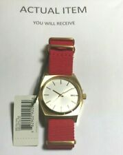 NIB Nixon Watch The Time Teller Gold/Silver/Red  A045-2451