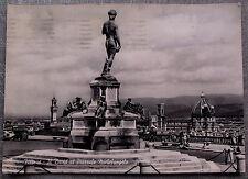 FIRENZE DAVID PIAZZALE MICHELANGELO   cartolina   postcard