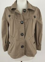 Marc Jacobs Womens Jacket 4 Beige Pea Coat Button Front Long Sleeve Occasion