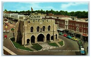 Postcard Southampton The Bargate and Above Bar posted 1968